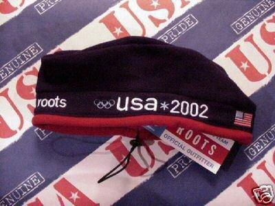bd6a86b8a8da Amazon.com : Winter Olympics USA 2002 Salt Lake City Roots Beret cap ...