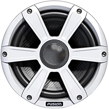Fusion Entertainment SG-FL77SPW 280W Coaxial Sports Marine Speaker with LED, White, 7.7