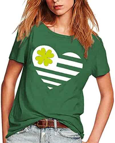 041c4d310d St. Patrick s Day Clothes Women s Short Sleeve T Shirt O Neck Green Casual  Party Tops