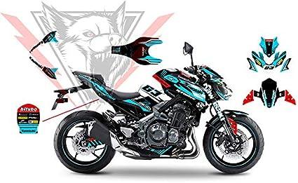 Complete Graphic Kit gr/áfico Completo Compatible con Kawasaki Z900 Adhesivos e Pegatinas Green Edition