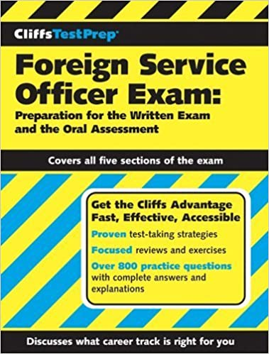 Book CliffsTestPrep Foreign Service Officer Exam by American BookWorks Corporation. (Cliffs Notes,2005)