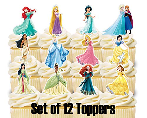 12 Cupcake Toppers Disney