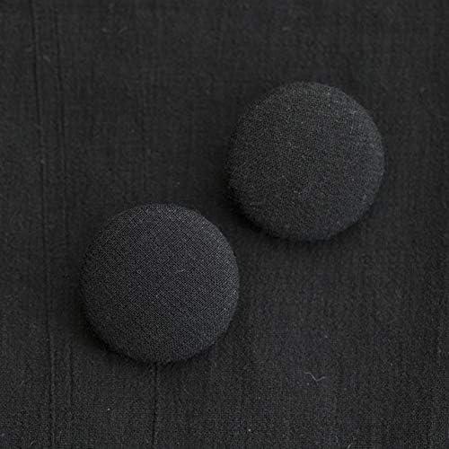くるみボタン(平くるみボタン) #BT186 1穴 25mm C/#BLACK ブラック 2個セット