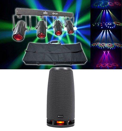 Chauvet DJ 4Play DMX-512 LED Light Beam Effect, DMX Moonflower Bar+Case+RockShip