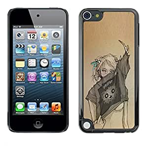 For Apple iPod Touch 5 , S-type® Sexy Woman Fashion Art Design - Arte & diseño plástico duro Fundas Cover Cubre Hard Case Cover