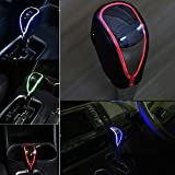Yosoo Black Leather Touch Motion Activated LED Light Auto Car Shift Knob Shifter Gear-Multicolor