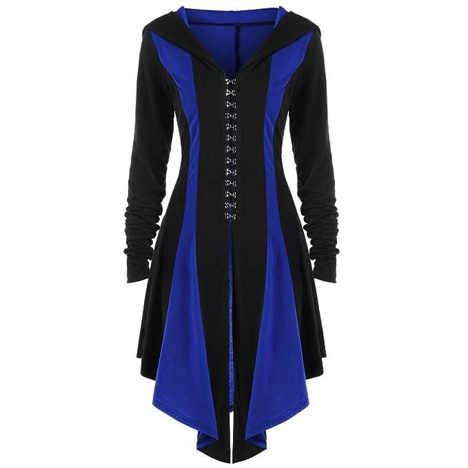 326c63195ca Orangeskycn Women s Slim Long Dovetail Hooded Bandage Trench Coat ...