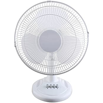 Optimus F-1211 Oscillating Table Fan, 12