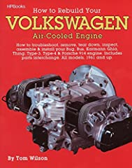 Learn how to rebuild a Volkswagen air-cooled engine! This guide will teach the reader how to troubleshoot, remove, tear down, inspect, assemble, and install Bug, Bus, Karmann Ghia, Thing, Type-3, Type-4, and Porsche 914 engines. All models fr...