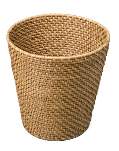 UPC 017641067750, Seville Classics Hand Woven Rattan Waste Basket, Natural, 9-1/2 by 9-1/2-Inch