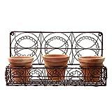 Metal 3 Terra Cotta Pots Wall Planter Rustic Farmhouse Garden/Patio/Yard Decor