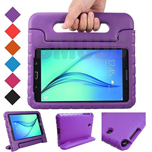 BMOUO Kids Case for Samsung Galaxy Tab E Lite 7.0 inch - ShockProof Case Light Weight Kids Case Cover Handle Stand Case for Children for Samsung Galaxy Tab E Lite - Purple Case Tablet 7 Inch