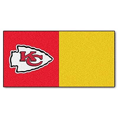 FANMATS NFL Kansas City Chiefs Nylon Face Team Carpet Tiles