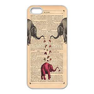 High quality elephant series protective case cover For Apple Iphone 5 5S CasesA-elephant-B4413