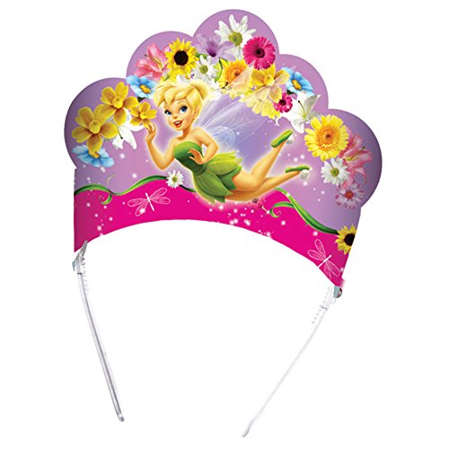 Disney Unique Party 71355 - Springtime Fairies Tiaras, Pack of 6