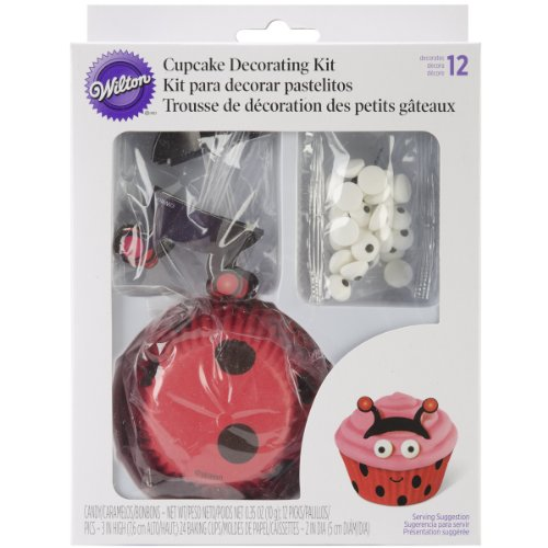 Wilton 415-0685 Ladybug Cupcake Decorating Kit