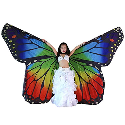 FEDULK Children Belly Dance Isis Wings Belly Dance Costume Performance Clothing Angel Wings(F) ()