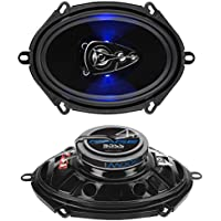 BOSS Audio BE5768 300 Watt (Per Pair), 5 x 7 Inch, Full Range, 4 Way Car Speakers (Sold in Pairs)