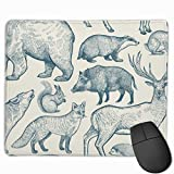 The Mouse pad 25 30 Deer, Wolf, Fox, Boar, Squirrel, Bear, Hare, Hedgehog and Badger Gaming Mouse Pad Custom