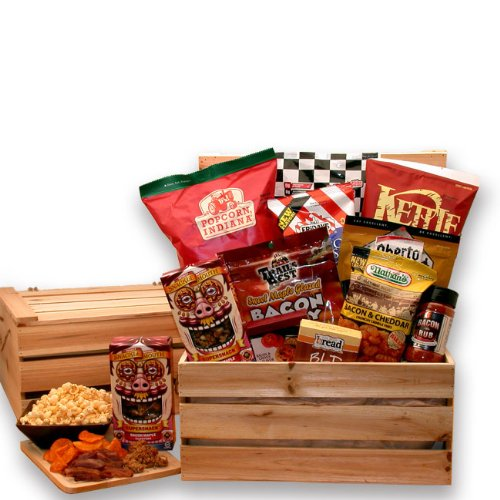 The Bacon Lovers Gift Crate - Makes a Perfect Holiday, Fathers Day or Birthday Gift Idea for Men by The Gift Basket Gallery