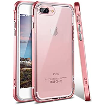 iphone 7 plus rose gold. iphone 8 plus case, 7 ansiwee shockproof armor iphone rose gold o