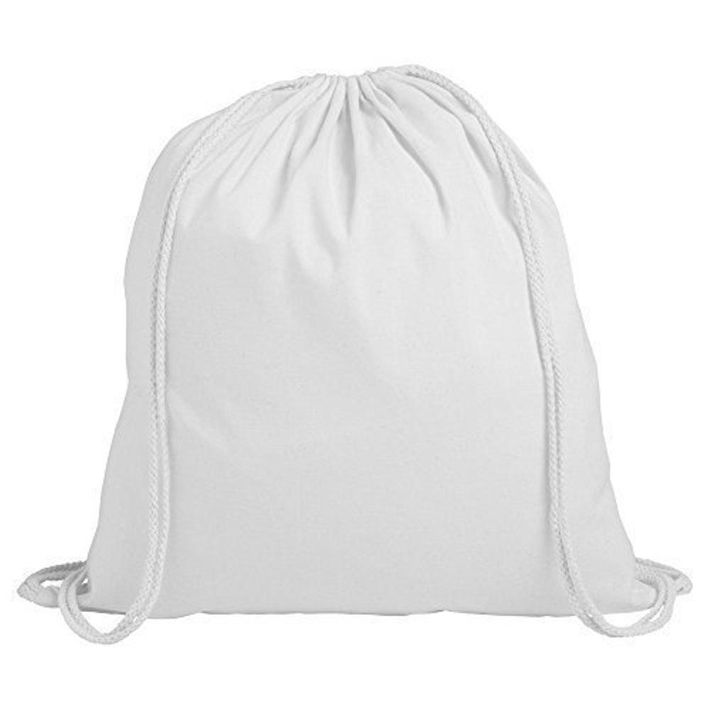 10 x Set Sacchetto cotone Sacca in Cotone Zaino Sport sacchetto, arancione