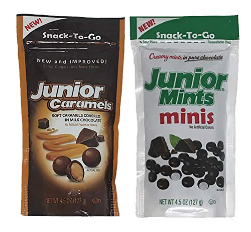 Fulfill Your Minty Sweet Tooth with this Two Pack Combo. Junior Mints Mini's and Junior Caramels