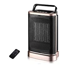 MAZHONG Space Heaters Ceramic Heater, Portable Fan Heater, 1500W Oscillating Space Heater, Built-in Office With Overheating And Overturn Protection