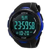 Pocciol Watch, Military Army Men's Luxury Analog Digital Stainless Steel Sport LED Waterproof Wrist Watch (Blue)