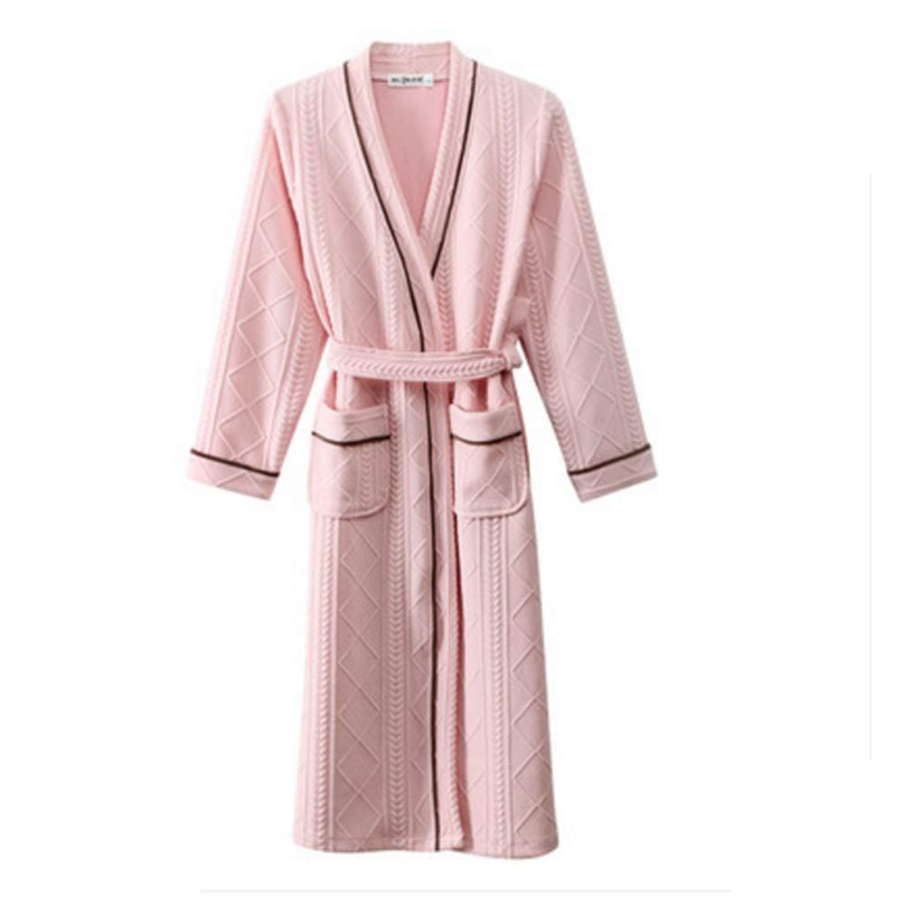 Amazon.com  Robe NAN Liang Luxury French Towelling Bath 100% Cotton Shawl  Collar Dressing Gown - Men s Women s Comfortable (Color   Women s Pink 9e8683de3