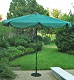 International Caravan 60403/FG-IC Furniture Piece Outdoor 8 Foot Aluminum Umbrella, Forest Green