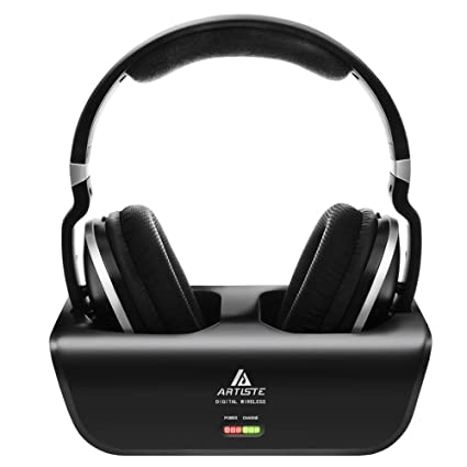 f9e9dfd44a0 Amazon.com: Wireless TV Headphones, Artiste ADH300 2.4GHz Digital Over-Ear  Stereo Headphone for TV 100ft Distance Transmitter Charging Dock  Rechargeable ...