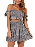 Womens-Bohemian-Striped-Printed-Crop-Top-with-High-Waist-Shorts-Two-Piece-Outfit-Suit-Set