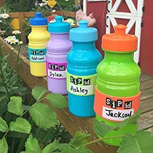 H2O ID BANDS: Introduces SIP ID 4 BAND MULTICOLOR PACK - REUSABLE ID BANDS- PERSONALIZE & LABEL YOUR CHILD'S DRINK; WATER BOTTLES, REUSABLE BOTTLES & CUPS, SIPPY CUPS, TRAINER CUPS, BABY BOTTLES