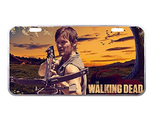 Panda Walking Dead Daryl Dixon custom Metal License Plate for Car Tag 11.8 inch X 6.1 inch -
