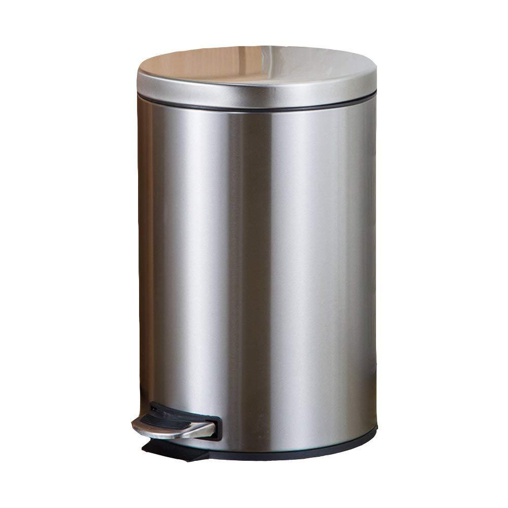 JJD ステップ式のゴミ箱家の中のステンレススチール製のゴミ箱とキッチンのバスルーム (Color : D) B07SBZ772Z D