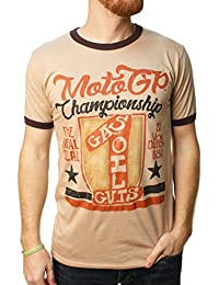 Von Dutch Men's MotoGP Real Deal Brown Graphic T-Shirt