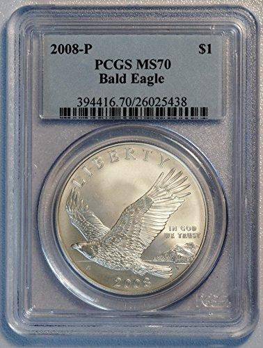 2008 P Bald Eagle Commemorative Dollar $1 MS-70 PCGS