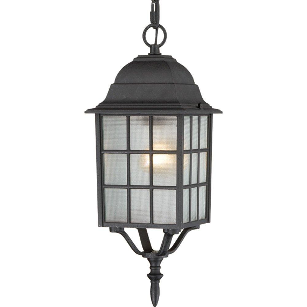 Nuvo Lighting 60//4902 Adams One Light Wall Lantern//Arm Up 100 Watt A19 Max Frosted Glass Rustic Bronze Outdoor Fixture