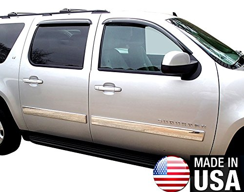 Made in USA! Works with 2010-2014 Chevy Avalanche/Suburban Body Side Molding Trim 4
