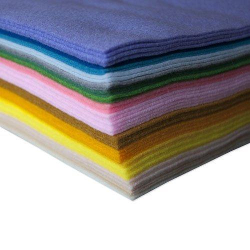 Pastel Acrylic Craft Felt 50 Sheets Assorted Buy