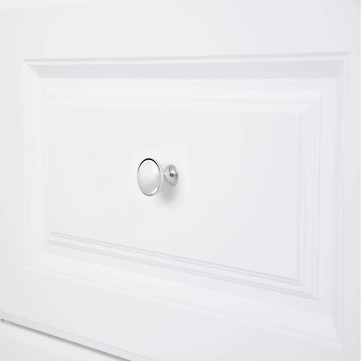 Pomolo tondo per mobili Diametro: 3,98 cm Basics Confezione da 25 pezzi Argento anticato