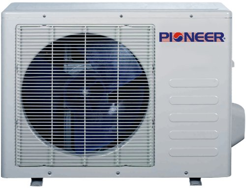 Pioneer Ductless Wall Mount Mini Split INVERTER Air Conditioner with Heat Pump, 12000 BTU (1 Ton), 15 SEER, 208~230 VAC, Full Set