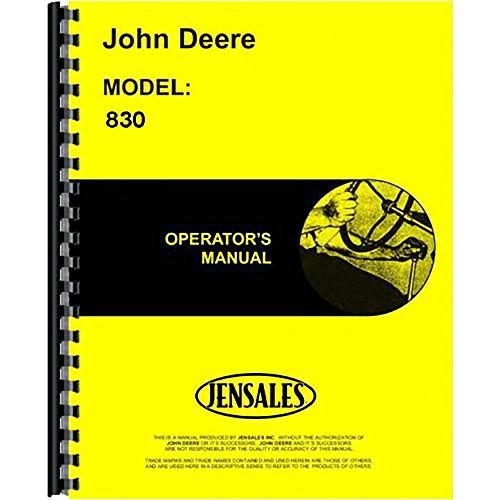 New John Deere 830 Tractor Operators Manual