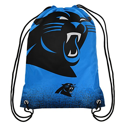 (Forever Collectibles NFL Unisex Gradient Drawstring Backpackgradient Drawstring Backpack, Carolina Panthers,)