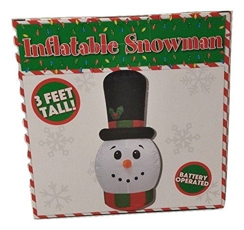 [CHRISTMAS DECORATION LAWN YARD GARDEN INFLATABLE HOLIDAY SNOWMAN 3' TALL] (Womens Homemade Snowman Costume)