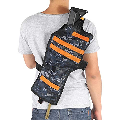 (Target Pouch Storage Bag Adjustable Holster Shoulder Bag for Tactical Nerf Toy Gun)