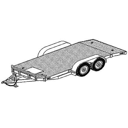 Amazon 18 x 80 car carrier trailer plans blueprints model 18 x 80quot car carrier trailer plans blueprints malvernweather Gallery