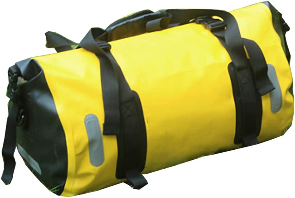 BOLSAS alforja Trasera Bicicleta, Viaje de Gran Capacidad Amarilla para Montar a Caballo, 20 litros, Impermeable para Bicicletas