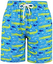 MILANKERR Big Boys'Swim Trunks with Brief Mesh Lining Quick